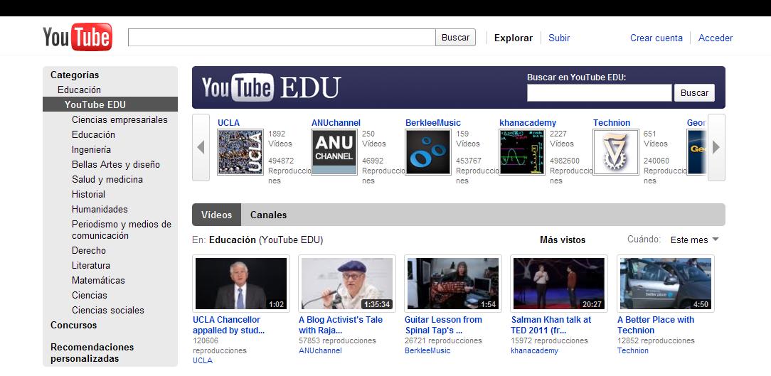www.youtube.com screen capture 2011 3 17 9 48 15 Youtube para la educación